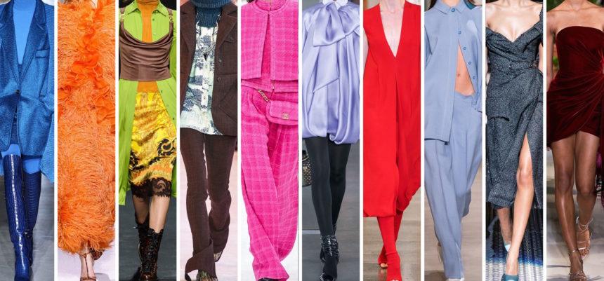 Tutti i colori moda di tendenza per l'inverno 2019/2020